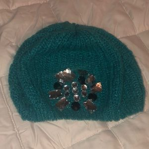 Turquoise Betsy Johnson beanie